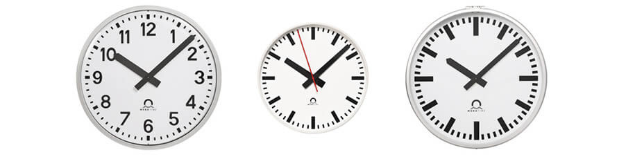 High-quality indoor and outdoor analogue clocks range