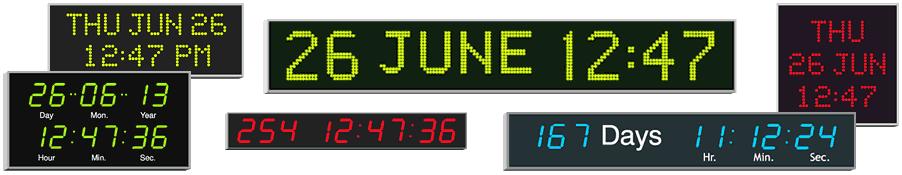 Wharton multi langauge electronic calendar clocks