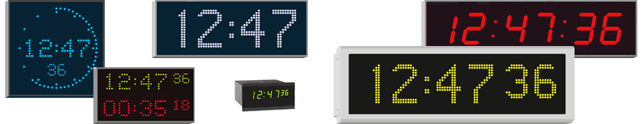 High-quality Wharton indoor and outdoor digital clocks for professional applications