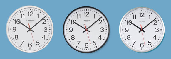 commercial range of analogue clocks