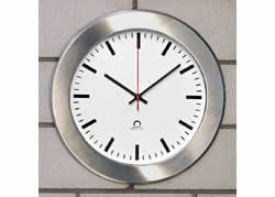 mounting box with stainless steel front plate for Flex analogue clock