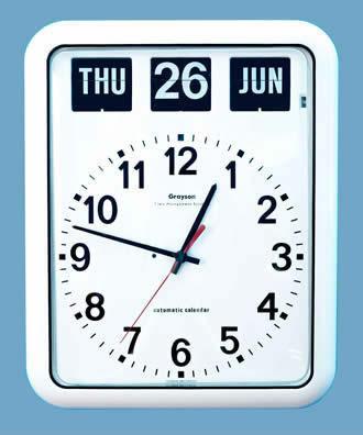 W2260a Bq12a Large Calendar Wall Clock Dementia