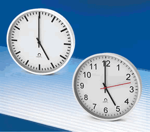 Trend intelligent analogue clocks with 30cm & 40cm - 12 & 16inch dials
