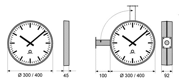 mounting arrangements for trend analogue clocks