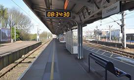 Wharton outdoor digital clock on Network rail platform
