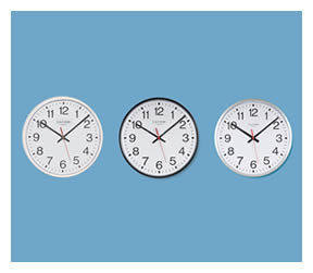 Commercial metal cased analogue clock range