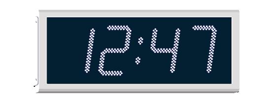 Wharton 400 series  large outdoor digital clocks with IP65 rated weatherproof case
