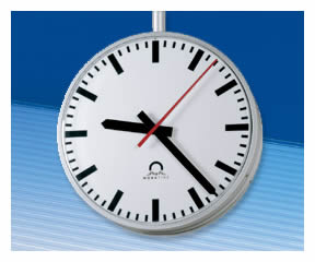 Metroline outdoor clocks from Wharton