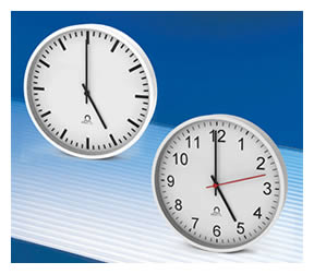 Trend analogue self-setting clock range Self-setting with two-wire MOBALine® or Ethernet/NTP with PoE control.