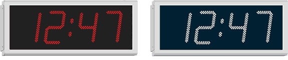 Wharton digital clocks with IP65 environment proof cases for external applications