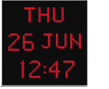 Large Digital Wall Calendar Clock Digital Clock With Date