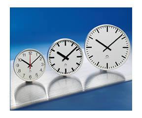 alternative Flex multi option metal cased analogue clocks