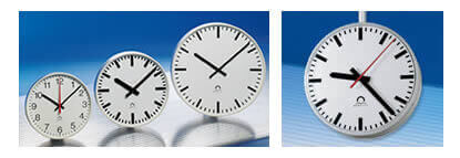 Wharton Indoor and outdoor analog clocks, commercial analogue clocks