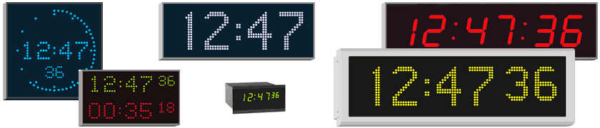 high quality indoor and outdoor digital clocks for professional applications