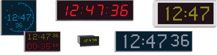 Wharton High-quality indoor and outdoor NTP clock range for professional applications
