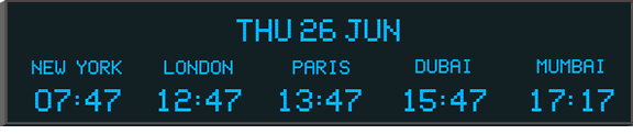 World Clock and Date World Time Zone and Date Clock